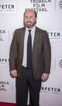 filmmaker: New York, NY, USA - April 13, 2016: Filmmaker Andrew Rossi attends the 2016 Tribeca Film Festival opening night world premiere of The First Monday In May at John Zuccotti Theater at BMCC Tribeca Performing Arts Center Editorial