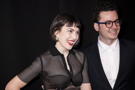 composers: New York, NY, USA - April 13, 2016: Composers Sofia Hultquist and Ian Hultquist attend the 2016 Tribeca Film Festival opening night world premiere of The First Monday In May at John Zuccotti Theater at BMCC Tribeca Performing Arts Center Editorial