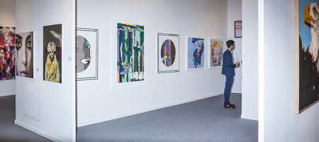 New York, NY, USA - May 3, 2016: General view of atmosphere at Art New York and CONTEXT New York, the International contemporary and modern art fair at Pier 94, Manhattan