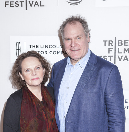 New York, NY, USA - April 16, 2016: Actors Jay O. Sanders, Maryann Plunkett attend Youth in Oregon Premiere during 2016 Tribeca Film Festival at John Zuccotti Theater at BMCC Tribeca Performing Arts Center