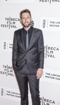 film festival: New York, NY, USA - April 16, 2016: Director Joel David Moore attends Youth in Oregon Premiere during 2016 Tribeca Film Festival at John Zuccotti Theater at BMCC Tribeca Performing Arts Center