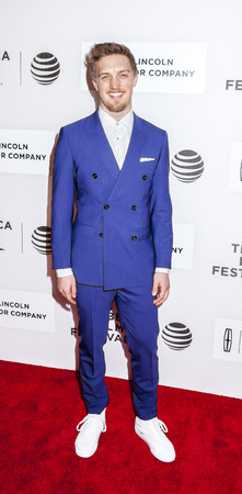 New York, NY, USA - April 16, 2016: Actor Keenan Joliff attends Youth in Oregon Premiere during 2016 Tribeca Film Festival at John Zuccotti Theater at BMCC Tribeca Performing Arts Center