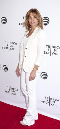 film festival: New York, NY, USA - April 22, 2016: Actres, writer Jenny Lumet attends Tribeca Talks After The Movie: By Sidney Lumet during the 2016 Tribeca Film Festival at SVA Theatre, Manhattan Editorial