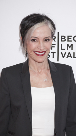 nana: New York, NY, USA - April 18, 2016: Actress Nana Visitor attends the Tribeca Tune In: For The Love Of Spock during the 2016 Tribeca Film Festival at the SVA Theatre, Manhattan