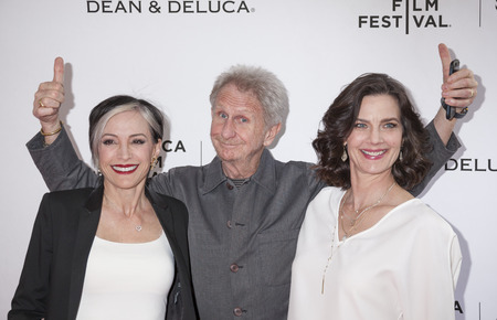 nana: New York, NY, USA - April 18, 2016: Actors Nana Visitor, Rene Auberjonois and Terry Farrell attend the Tribeca Tune In: For The Love Of Spock during the 2016 Tribeca Film Festival at the SVA Theatre, Manhattan