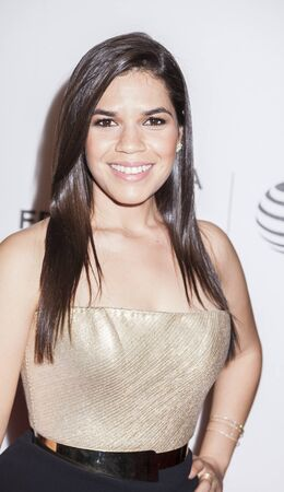 New York, NY, USA - April 22, 2016: Actress America Ferrera attends the Special Correspondents premiere during the 2016 Tribeca Film Festival at the John Zuccotti Theater at BMCC Tribeca Performing Arts Center, NYC