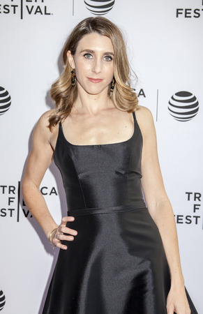 producer: New York, NY, USA - April 19, 2016: Producer, actress Sarah Megan Thomas attends Tribeca Talks After the Movie: Equity during  the 2016 Tribeca Film Festival at SVA Theatre, Manhattan Editorial