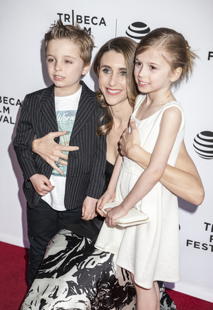 olivia: New York, NY, USA - April 19, 2016: Lukas Gilkison-Parrish, Sarah Megan Thomas and Olivia Gilkison-Parrish attend Tribeca Talks After the Movie: Equity during  the 2016 Tribeca Film Festival at SVA Theatre, Manhattan