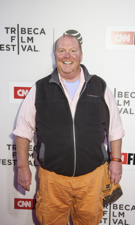 mario: New York, NY, USA - April 16, 2016: Chef Mario Batali attends the premiere of Jeremiah Tower: The Last Magnificent during the 2016 Tribeca Film Festival at the John Zuccotti Theater at BMCC Tribeca Performing Arts Center