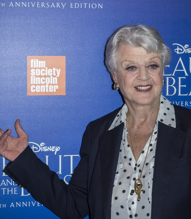 screening: New York, NY, USA - September 18, 2016:  Angela Lansbury attends the Beauty and The Beast 25th Anniversary Screening at Alice Tully Hall, Lincoln Center, Manhattan