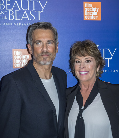 attend: New York, NY, USA - September 18, 2016: Robby Benson and Paige OHara attend the Beauty and The Beast 25th Anniversary Screening at Alice Tully Hall, Lincoln Center, Manhattan