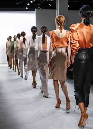 webb: New York, NY, USA - September 8, 2016: Models walk runway for the Marissa Webb SpringSummer 2017 runway show during New York Fashion Week SS 2017 at The Gallery at Skylight Clarcson Sq