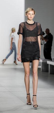 webb: New York, NY, USA - September 8, 2016: A model walks runway rehearsalfor the Marissa Webb SpringSummer 2017 runway show during New York Fashion Week SS 2017 at The Gallery at Skylight Clarcson Sq Editorial