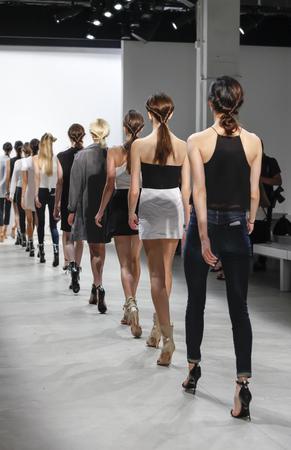 webb: New York, NY, USA - September 8, 2016: Models walk runway rehearsal for the Marissa Webb SpringSummer 2017 runway show during New York Fashion Week SS 2017 at The Gallery at Skylight Clarcson Sq