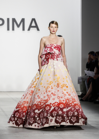 jeffrey: New York, NY, USA - September 8, 2016: A model walks runway for the Ninth Annual Supima Design competition during New York Fashion Week SS 2017 at The Gallery at Skylight Clarkson Sq. Designer Jeffrey Taylor