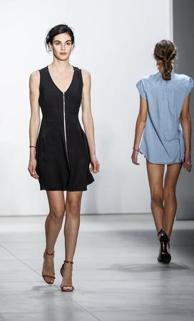 webb: New York, NY, USA - September 8, 2016: A model walks runway rehearsal for the Marissa Webb SpringSummer 2017 runway show during New York Fashion Week SS 2017 at The Gallery at Skylight Clarcson Sq