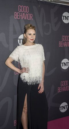 christine: New York, NY, USA - November 14, 2016: Actress Christine Seidel attends TNT's Good Behavior Premiere Event at The Roxy Hotel, Manhattan