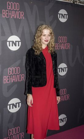 actress: New York, NY, USA - November 14, 2016: Actress Tess Frazer attends TNT's Good Behavior Premiere Event at The Roxy Hotel, Manhattan