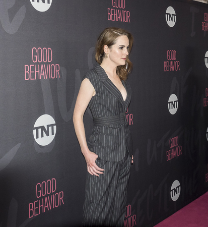 New York, NY, USA - November 14, 2016: Actress Michelle Dockery attends TNT's Good Behavior Premiere Event at The Roxy Hotel, Manhattan Editorial