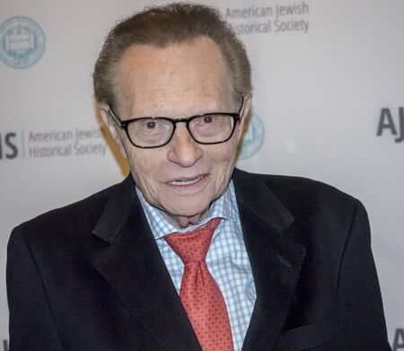 New York, NY, USA - December 1, 2016: American television and radio host Larry King attends AJHS Emma Lazarus Statue of Liberty Award Dinner at The Roosevelt Hotel, Manhattan