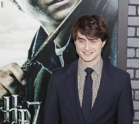 New York, NY, USA - November 15, 2010: Actor Daniel Radcliffe attends the premiere of Harry Potter and the Deathly Hallows - Part 1 at Alice Tully Hall, Manhattan