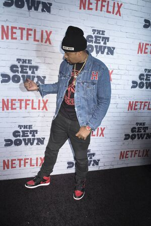 New York, New York, USA, April 5, 2017: Executive Producer Nas attends New York Kickoff Party for the Netflix The Get Down season One Part Two at Irving Plaza, Manhattan