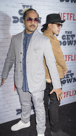 New York, New York, USA, April 5, 2017:  Rich Talauega and Tone Taluega attend New York Kickoff Party for the Netflix The Get Down season One Part Two at Irving Plaza, Manhattan