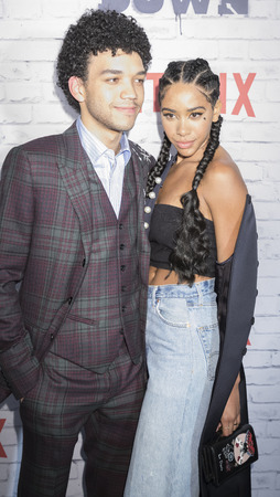 New York, New York, USA, April 5, 2017: Actor Justice Smith(L) and Herizon Guardiola attend New York Kickoff Party for the Netflix The Get Down season One Part Two at Irving Plaza, Manhattan