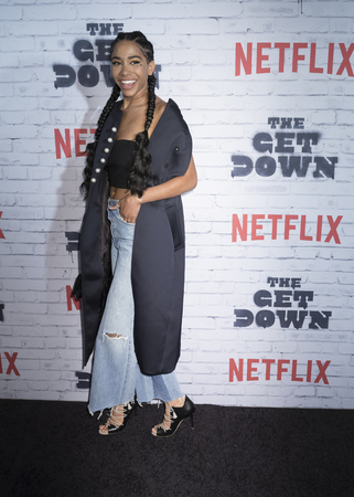 New York, New York, USA, April 5, 2017: Herizen Guardiola attends New York Kickoff Party for the Netflix The Get Down season One Part Two at Irving Plaza, Manhattan