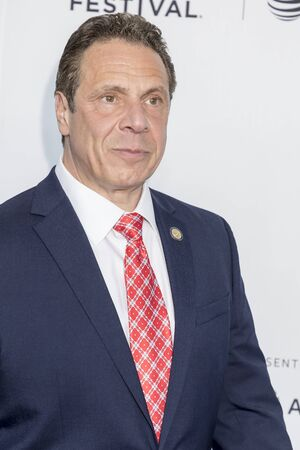 New York, NY, USA - April 19, 2017: Governor of New York ANDREW M. CUOMO attends the 2017 Tribeca Film Festival - Clive Davis: The Soundtrack Of Our Lives world premiere - opening night at Radio Cit