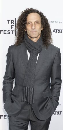 New York, NY, USA - April 19, 2017: Muscian Kenny G attends the 2017 Tribeca Film Festival - Clive Davis: The Soundtrack Of Our Lives world premiere - opening night at Radio City Music Hall