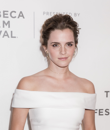 NEW YORK, NY , USA - APRIL 26: Actress Emma Watson attends Tribeca Gala: The Circle Premiere during the 2017 Tribeca Film Festival at BMCC Tribeca PAC, Manhattan 報道画像