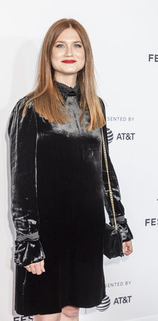 New york, NY, USA, April 19, 2017: Bonnie Wright wearing Prada attends the 2017 Tribeca Film Festival - Clive Davis: The Soundtrack Of Our Lives world premiere - opening night at Radio City Music Hall