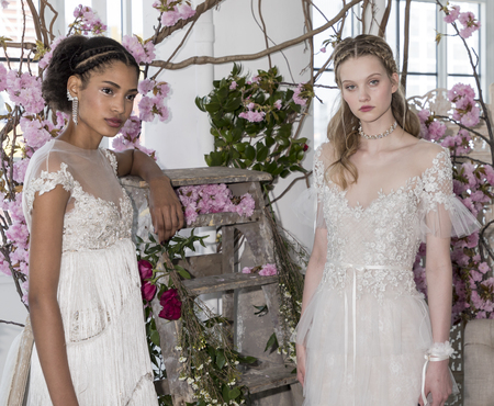 georgina: New York, NY, USA - April 20: Models show out a dress by Georgina Chapman and Keren Craig for Marchesa Notte SpringSummer 2018 Bridal Presentation during New York International Bridal Week at Canoe Studio, Manhattan