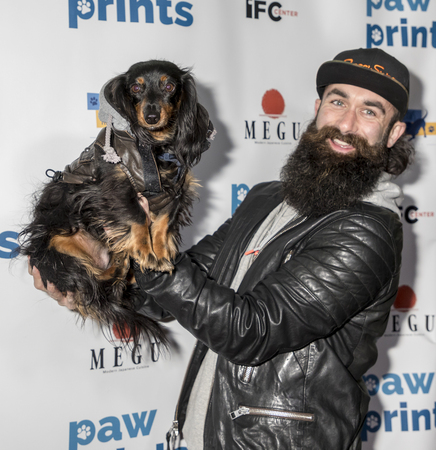 """New York, NY, USA - December 19, 2017: Jerry """"Brows"""" Powers at the Paw Prints 1st Annual Paw-liday party screening of 'Best in Show' at IFC center"""