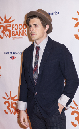 New York, NY, USA - April 17, 2018:  Actor Chris Lowell attends the Food Bank for New York Citys Can Do Awards Dinner at Cipriani Wall Street, Manhattan