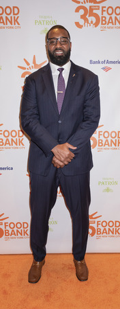 New York, NY, USA - April 17, 2018: Chris Canty attends the Food Bank for New York Citys Can Do Awards Dinner at Cipriani Wall Street, Manhattan Editorial