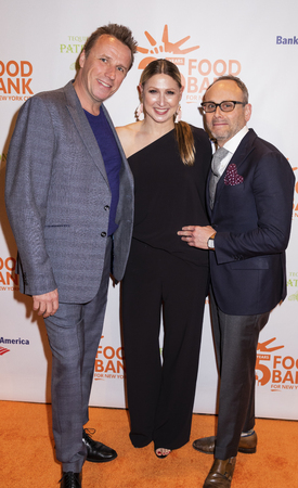 New York, NY, USA - April 17, 2018: (L-R) Marc Murphy, Jodisue Rosen and Scott R. Feldman attends the Food Bank for New York City's Can Do Awards Dinner at Cipriani Wall Street, Manhattan