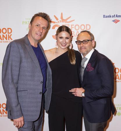 New York, NY, USA - April 17, 2018: (L-R) Marc Murphy, Jodisue Rosen and Scott R. Feldman attends the Food Bank for New York City's Can Do Awards Dinner at Cipriani Wall Street, Manhattan Sajtókép