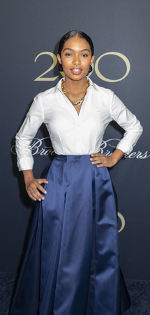 New York, NY, USA - April 25, 2018: Yara Shahidi attends the Brooks Brothers Bicentennial Celebration at Jazz At Lincoln Center, Manhattan Editöryel