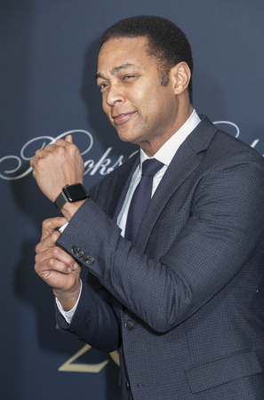New York, NY, USA - April 25, 2018: Don Lemon with Apple watch attends the Brooks Brothers Bicentennial Celebration at Jazz At Lincoln Center, Manhattan Editorial