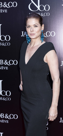 New York, NY, USA - April 26, 2018: Debra Messing attends The Grand Re-Opening of the Jacob & Co. New York Flagship on 57th Street, Manhattan