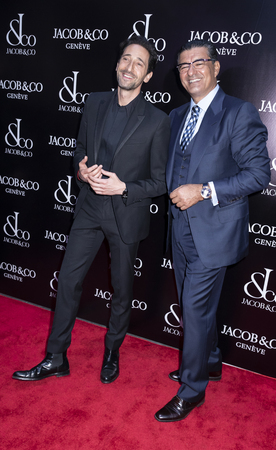 New York, NY, USA - April 26, 2018: Adrien Brody and Jacob Arabo attend The Grand Re-Opening of the Jacob & Co. New York Flagship on 57th Street, Manhattan
