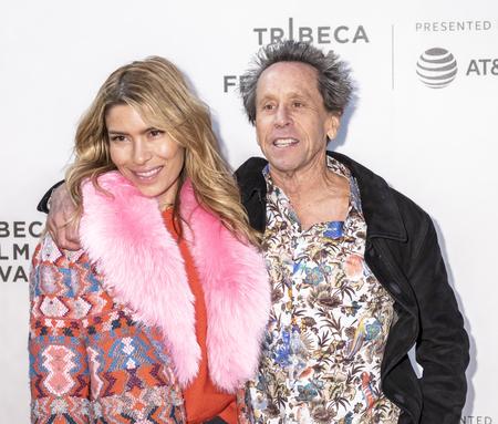 New York, NY, USA - April 20, 2018: Brian Grazer, Veronica Smiley attends screening of 'Genius: Picasso' during the 2018 Tribeca Film Festival at BMCC Tribeca PAC, Manhattan