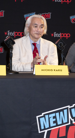 New York, NY, USA - October 4, 2018: Mars Season 2 by NatGeo - Michio Kaku attends panel during Comic Con 2018 at The Jacob K. Javits Convention Center in New York City.