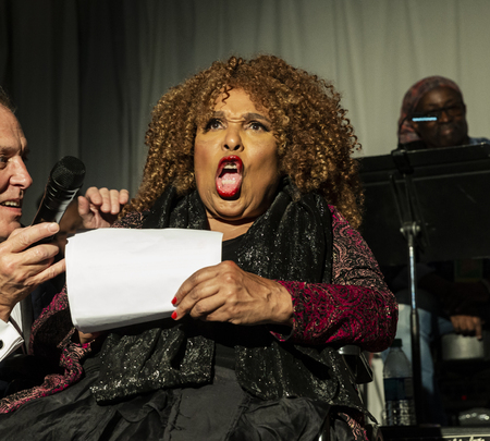 New York, NY - October 13, 2018: Roberta Flack speaks during tribute at Loft Party A Night for the Soul for Jazz Foundation of America at Hudson Studios, Manhattan Editorial