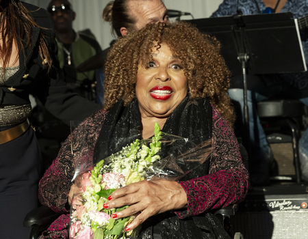 New York, NY - October 13, 2018: Roberta Flack on stage during tribute at Loft Party A Night for the Soul for Jazz Foundation of America at Hudson Studios, Manhattan