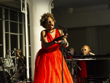 New York, NY - October 13, 2018: Macy Gray performs at Loft Party A Night for the Soul for Jazz Foundation of America at Hudson Studios, Manhattan Editorial