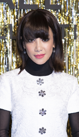 New York, NY, USA - February 13, 2019: Fiona Xie attends the Michael Kors Collection Fall 2019 Runway Show during New York Fashion Week at Cipriani Wall Street, Manhattan