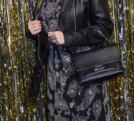 New York, NY, USA - February 13, 2019: Siti Saleha attends the Michael Kors Collection Fall 2019 Runway Show during New York Fashion Week at Cipriani Wall Street, Manhattan Sajtókép